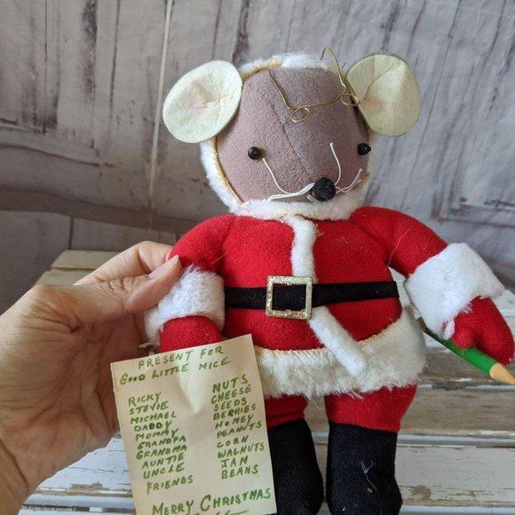 Kurt Adler Other - Kurt Adler vintage mouse mice Santa decor plush